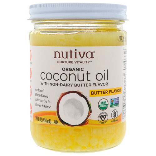 Nutiva, Organic Coconut Oil, Butter Flavor, 14 fl oz (414 ml) Review