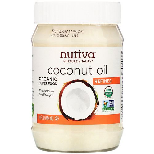 Nutiva, Organic Coconut Oil, Refined, 15 fl oz (444 ml) Review