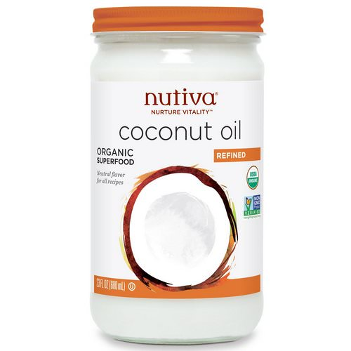 Nutiva, Organic Coconut Oil, Refined, 23 fl oz (680 ml) Review
