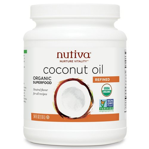 Nutiva, Organic Coconut Oil, Refined, 54 fl oz (1.6 l) Review