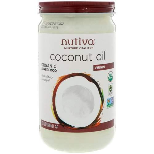 Nutiva, Organic Coconut Oil, Virgin, 23 fl oz (680 ml) Review