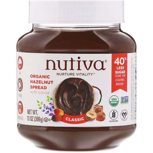 Nutiva, Organic Hazelnut Spread, Classic, 13 oz (369 g) Review