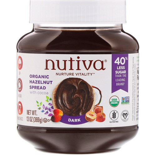 Nutiva, Organic Hazelnut Spread, Dark, 13 oz (369 g) Review