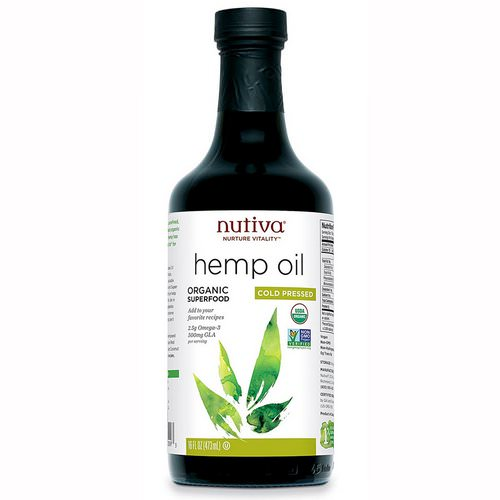 Nutiva, Organic Hemp Oil, Cold Pressed, 16 fl oz (473 ml) Review