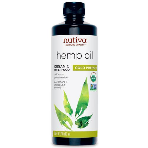 Nutiva, Organic Hemp Oil, Cold Pressed, 24 fl oz (710 ml) Review