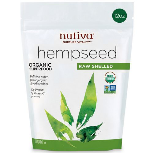 Nutiva, Organic Hemp Seed Raw Shelled, 12 oz (340 g) Review