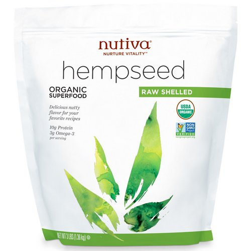 Nutiva, Organic Hemp Seed Raw Shelled, 3 lbs (1.36 kg) Review