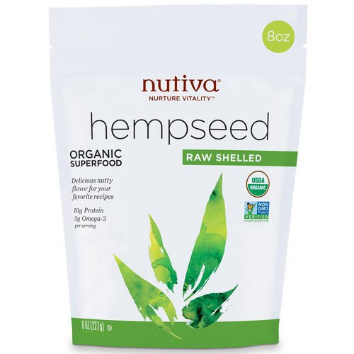 Nutiva, Organic Hemp Seed Raw Shelled, 8 oz (227 g) Review