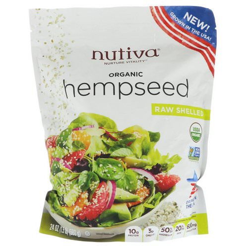 Nutiva, Organic Hempseed, Raw Shelled, 1.5 lbs (680 g) Review