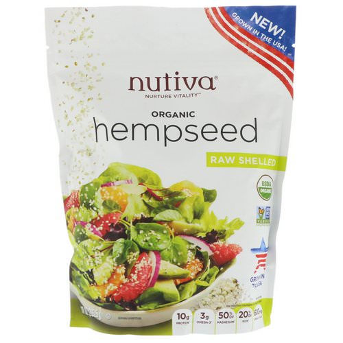 Nutiva, Organic Hempseed, Raw Shelled, 10 oz (283.5 g) Review