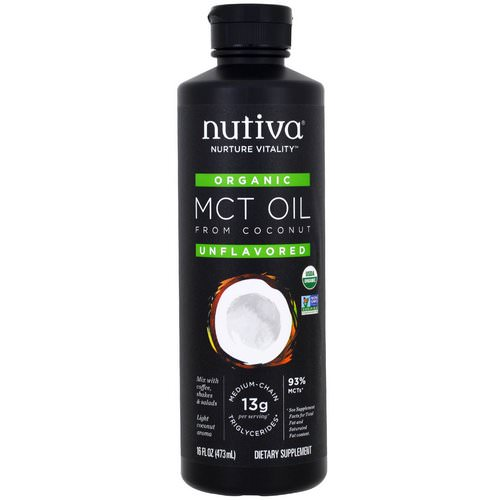 Nutiva, Organic MCT Oil From Coconut, Unflavored, 16 fl oz (473 ml) Review