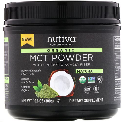 Nutiva, Organic MCT Powder, Matcha, 10.6 oz (300 g) Review