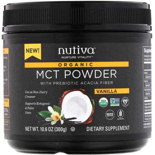 Nutiva, Organic MCT Powder, Vanilla, 10.6 oz (300 g) Review