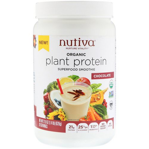 Nutiva, Organic Plant Protein, Chocolate, 1.4 lb (620 g) Review