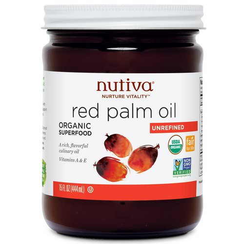Nutiva, Organic Red Palm Oil, Unrefined, 15 fl oz (444 ml) Review