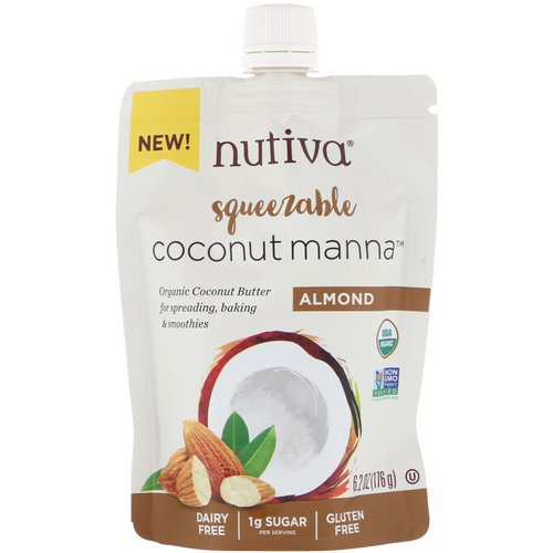 Nutiva, Organic Squeezable, Coconut Manna, Almond, 6.2 oz (176 g) Review