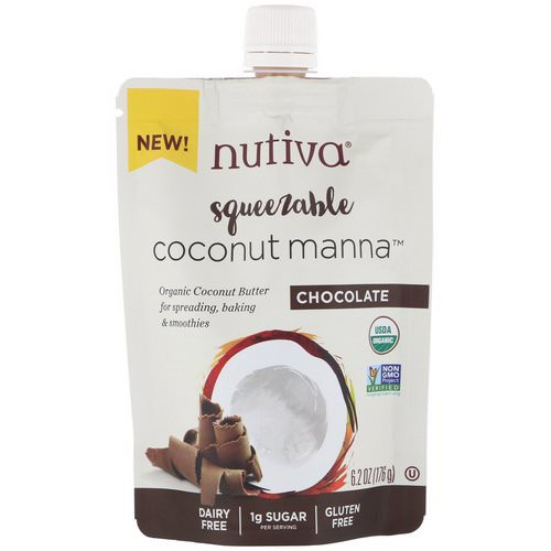 Nutiva, Organic Squeezable, Coconut Manna, Chocolate, 6.2 oz (176 g) Review