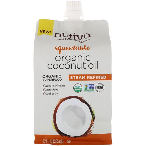 Nutiva, Organic Squeezable, Steam Refined Coconut Oil, 12 fl oz (355 ml) Review