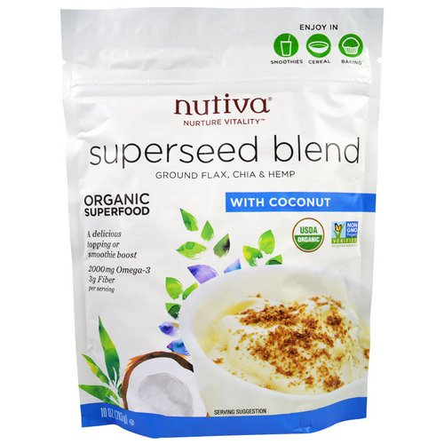 Nutiva, Organic Superseed Blend, With Coconut, 10 oz (283 g) Review