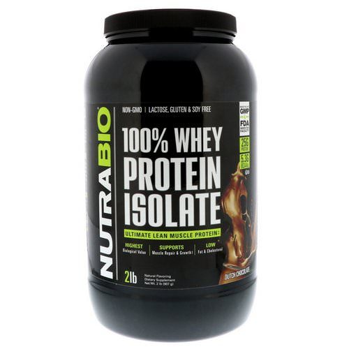 NutraBio Labs, 100 % Whey Protein Isolate, Dutch Chocolate, 2 lbs (907 g) Review