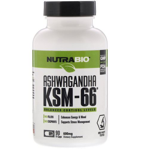 NutraBio Labs, Ashwagandha KSM-66, 600 mg, 90 V-Caps Review