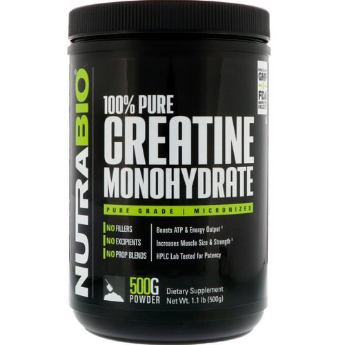 NutraBio Labs, Creatine Monohydrate, 1.1 lb (500 g) Review