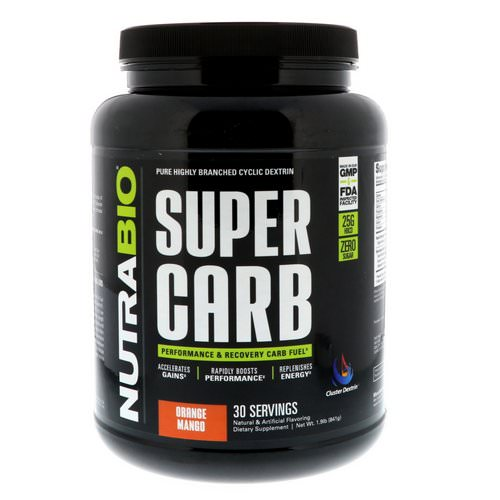 NutraBio Labs, Super Carb, Orange Mango, 1.9 lb (841 g) Review