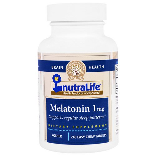 NutraLife, Melatonin, 1 mg, 240 Easy Chew Tablets Review