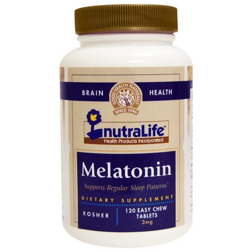 NutraLife, Melatonin, 3 mg, 120 Easy Chew Tablets Review