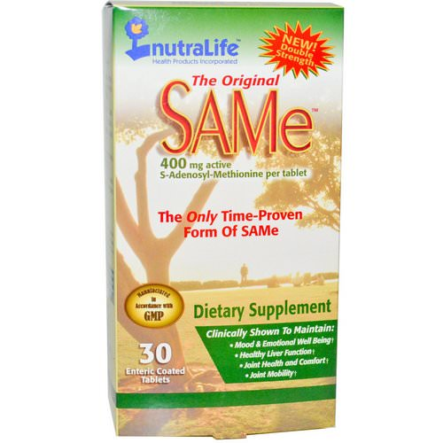 NutraLife, The Original SAM-e (S-Adenosyl-L-Methionine), 400 mg, 30 Enteric Coated Tablets Review