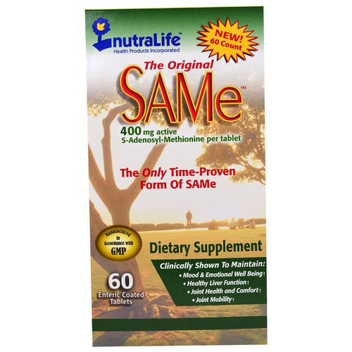 NutraLife, The Original SAM-e (S-Adenosyl-L-Methionine), 400 mg, 60 Enteric Coated Caplets Review