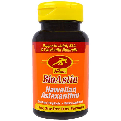 Nutrex Hawaii, BioAstin, Hawaiian Astaxanthin, 12 mg, 50 Gel Caps Review