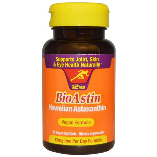 Nutrex Hawaii, BioAstin, 12 mg, 50 Vegan Soft Gels Review