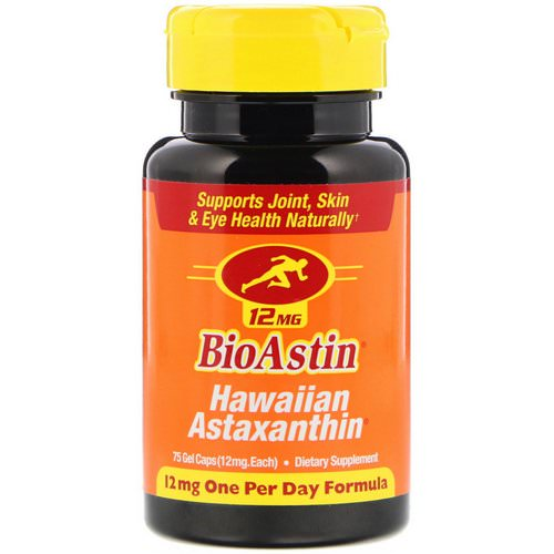 Nutrex Hawaii, BioAstin, Hawaiian Astaxanthin, 12 mg, 75 Gel Caps Review