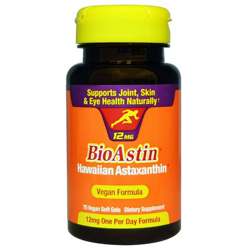 Nutrex Hawaii, BioAstin, 12 mg, 75 Vegan Soft Gels Review