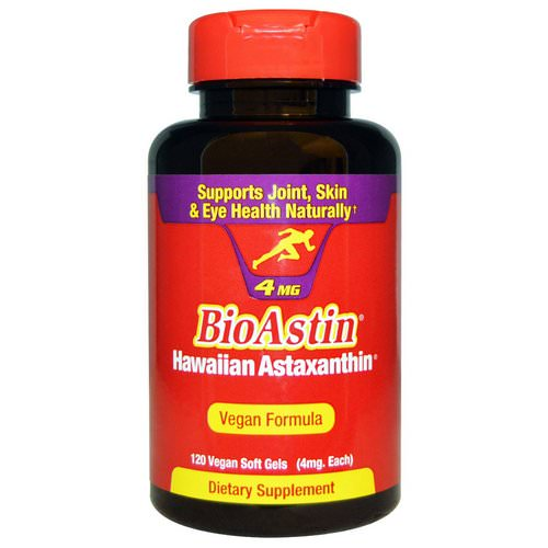 Nutrex Hawaii, BioAstin, 4 mg, 120 Vegan Soft Gels Review