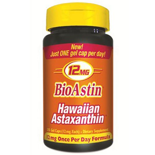 Nutrex Hawaii, BioAstin, Hawaiian Astaxanthin, 12 mg, 25 Gel Caps Review