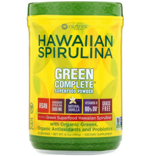 Nutrex Hawaii, Hawaiian Spirulina, Green Complete Superfood Powder, Natural Vanilla, 6.70 oz (190 g) Review