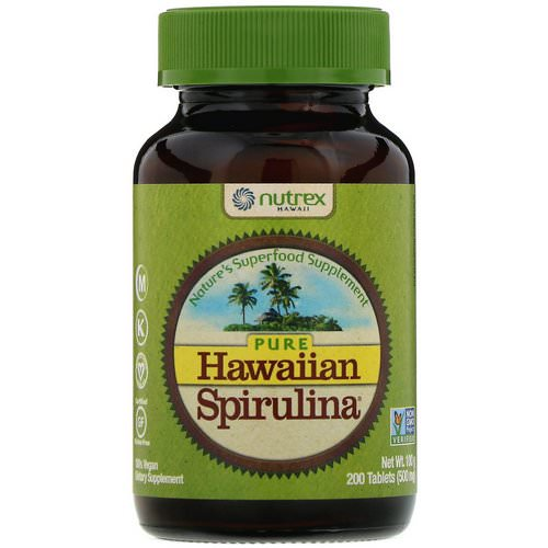 Nutrex Hawaii, Pure Hawaiian Spirulina, 500 mg, 200 Tablets Review