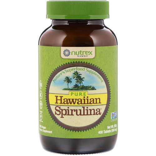 Nutrex Hawaii, Pure Hawaiian Spirulina, 500 mg, 400 Tablets Review