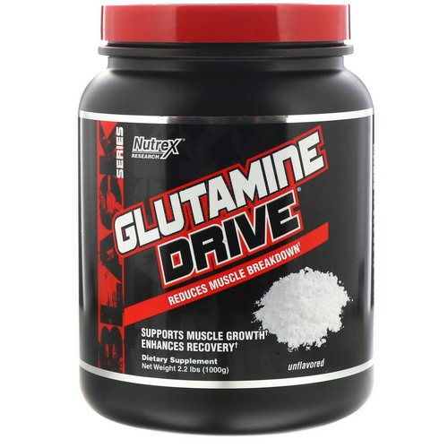 Nutrex Research, Glutamine Drive, Unflavored, 2.2 lbs (1000 g) Review