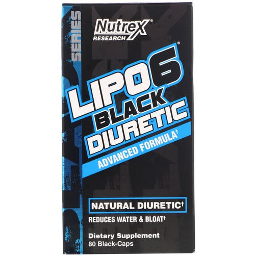 Nutrex Research, Lipo-6 Black Diuretic, 80 Black-Caps Review