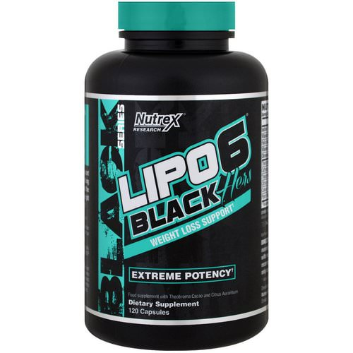 Nutrex Research, Lipo-6 Black, Hers, Weight Loss Support, 120 Capsules Review