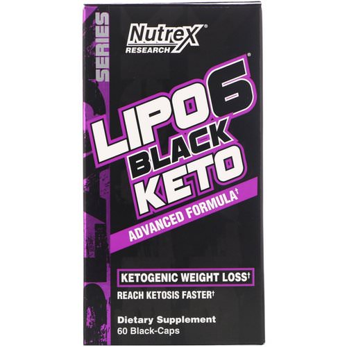 Nutrex Research, Lipo-6 Black Keto, Advanced Formula, 60 Black-Caps Review