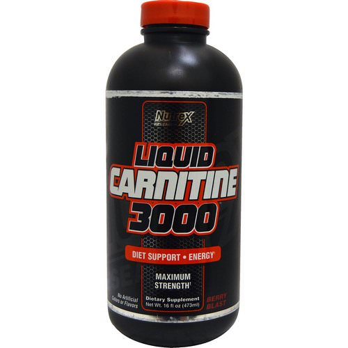 Nutrex Research, Liquid Carnitine 3000, Berry Blast, 16 fl oz (473 ml) Review