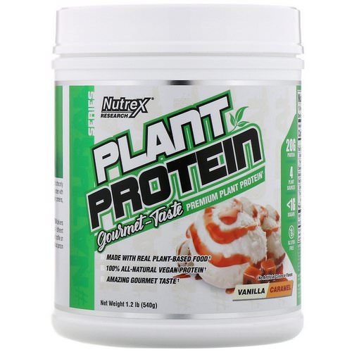 Nutrex Research, Natural Series, Plant Protein, Vanilla Caramel, 1.2 lb (540 g) Review