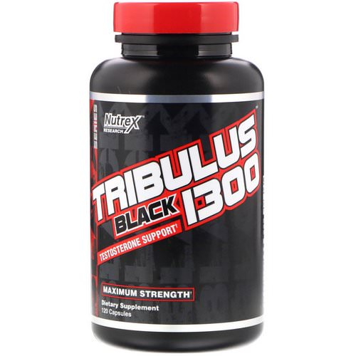 Nutrex Research, Tribulus Black 1300, Testosterone Support, 120 Capsules Review