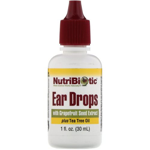 NutriBiotic, Ear Drops with Grapefruit Seed Extract plus Tea Tree Oil, 1 fl oz (30 ml) Review