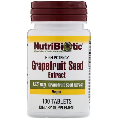 NutriBiotic, Grapefruit Seed Extract, 125 mg, 100 Tablets Review