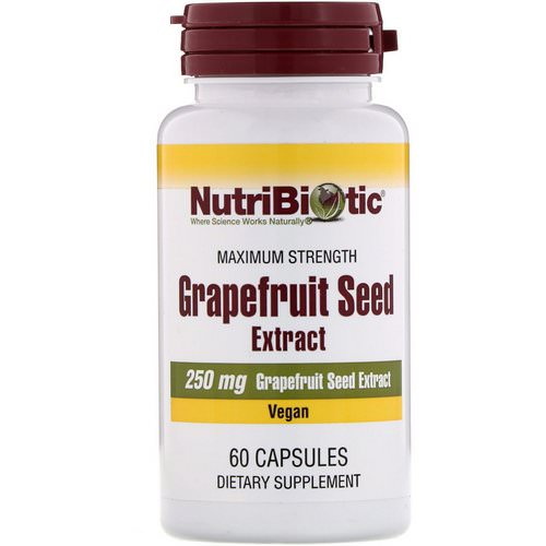 NutriBiotic, Grapefruit Seed Extract, 250 mg, 60 Capsules Review